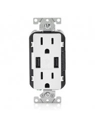 ULTRASAVE - Wall Socket with Duplex USB Charger